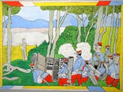 Josef Wittlich: Altes Schlachtenbild mit Kanone